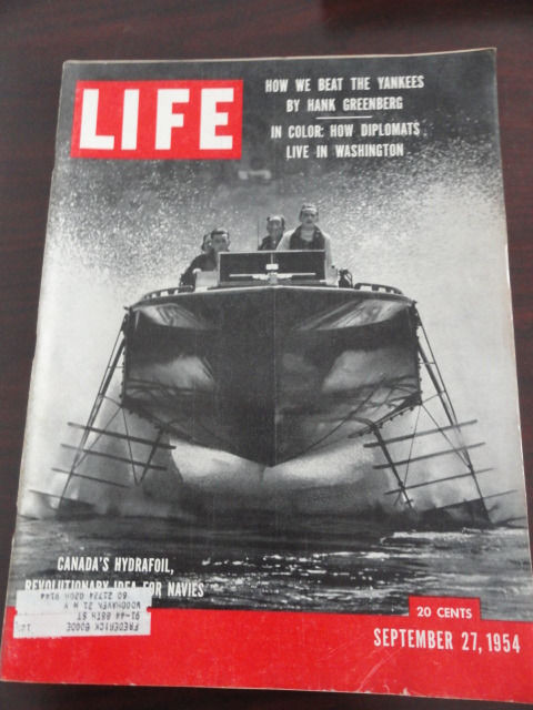 Vtg Life Magazine September 27, 1954 Hank Greenberg Yankees Hydrafoil On Cover