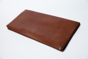 Vintage VERNE Handcrafted For Personal Pride Brown Leather Clutch Pruse Preown