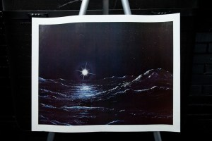 """Vtg 1977 Pluto Painting Print By James Hervat Astronomy Magazine 22"""" x 17"""" Mint"""