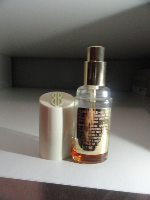 "Vtg Perfume BB Bill Blass Atomizer Cologne Spray Less Than 1/4 Full 4"" .39 Oz"