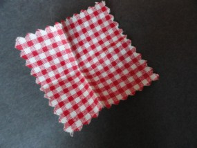 Vintage Barbie 1960's Gingham Little Theater Little Red Riding Hood Napkin #880