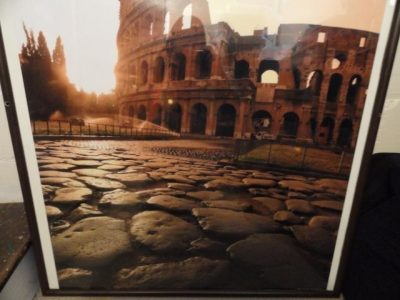Art Poster Colosseum Via Sacra Sunrise Rome Italy By Michele Falzone 41 x 33