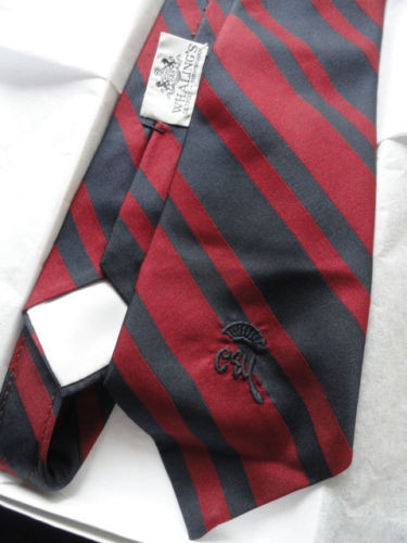 Vintage Men's Countess More Tie New York Whalings Red & Navy Stripe NWOT