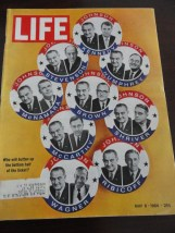 Vintage Life Magazine May 8, 1964 Which Vice President for Johnson On Cover