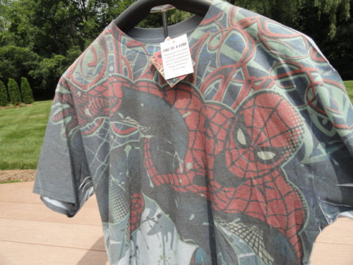 Men's Marvel Comic Spider-Man T-Shirt ONE OF A KIND XXL 2009 NWT