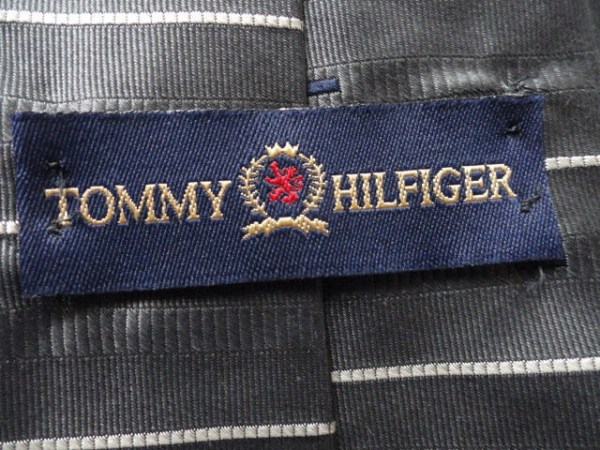 Vintage Men's TOMMY HILFIGER Striped Tie 100% Silk Imported Fabric Made In USA