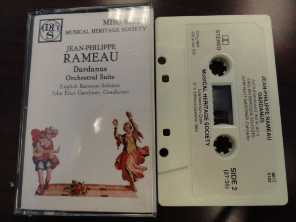 Vtg Musical Heritage Society Classical 1 Jean-Philppe RAMEAU Dardanus Cassette