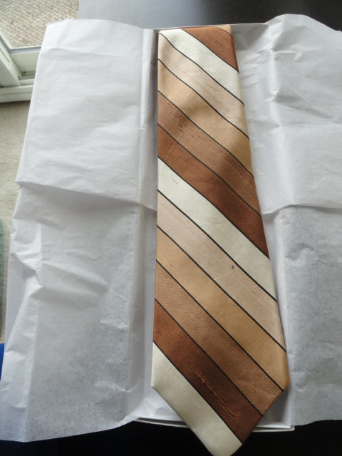 Vintage Men's SAKS FIFTH AVENUE Sulka Stripe Tie All Silk Unknown Where Made