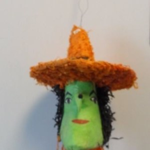 1992 Halloween Handmade Witch Pinata Mexico With Hanger Great Cond 17 x 11
