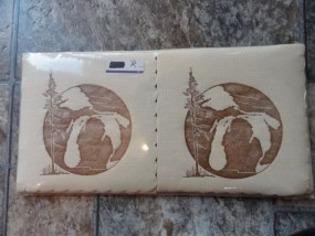 "Vtg 1970's Shape Of Michigan ""Mitten"" Paper Napkins White Pine New In Package"