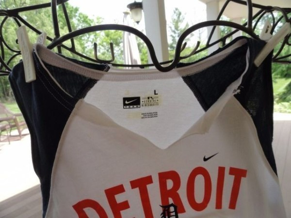 Detroit Tigers MLB Nike Team Girl's Short Sleeve Shirt Preowned L 100% Cotton