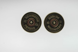 REMINGTON PETERS 12 GA Yellow Tone Round Cuffl Lnks Weight 14.5 Grams