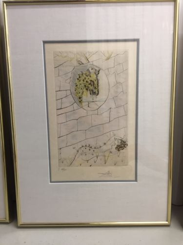 "Salvador Dali 1971 ""The Beloved Looks Forth"" Song of Songs of Solomon Suite COA"