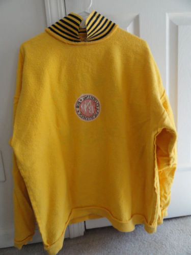 """Men's Newport Blue Yellow Blue Pull Over Shirt """"Clothing For Yachtsmen"""" Preowned"""