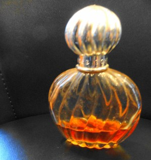 Vintage 1979's Princess Borghese Perfume With Ribbed Bottle Silver Bulb Lid Used