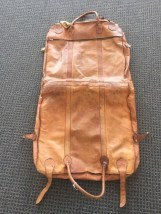 Vtg 1970's R. O. N. A. Genuine Leather Hanging Luggage GO ANYWHERE Argentina