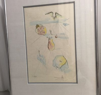 "S. Dali '71 ""The Fruits Of The Valley"" Song of Songs of Solomon Suite COA"