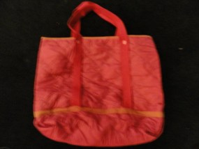 Vintage Hot Pink Huge Tote Bag Purse Handbag Quilted Diamond Pattern Nylon Ex Co