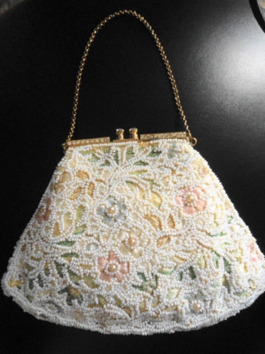 Vintage Jolles Original Purse Beaded Evening Bag 1950's  Great Condition