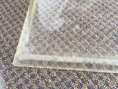 "Vtg Lucite Dome Tray Food Cover 4"" Handle The Recess Club Fisher Bldg Detroit"