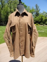 Vtg Men's Countess Mara 100% Wool Long Sleeve Shirt Herringbone Collar Stays L