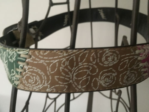 Female Faux Leather Multi Colored Butterfly Belt Rose Pattern New