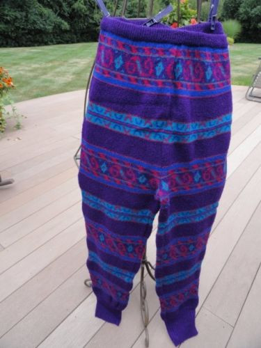 Vintage Women's SSG By CATHERINE LOVER Pants Leggings Wool Multi Color L Preown