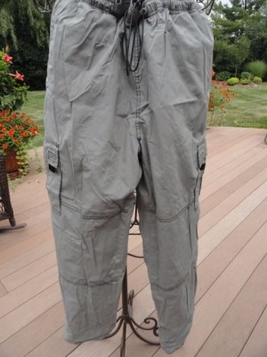 Men's OTB Reversible Black Gray Cargo Pants Tall Medium Excellent Condition