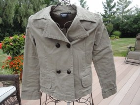 Women's Steve & Barry's Sportswear Khaki Double Breasted Jacket Blazer Sm NWOT