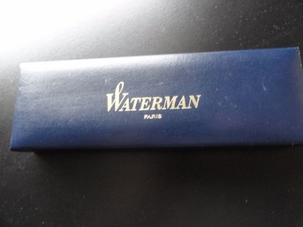Vtg 1980's Waterman Paris France On Nib 18K - 750 W Fountain Pen Box Ink Manual