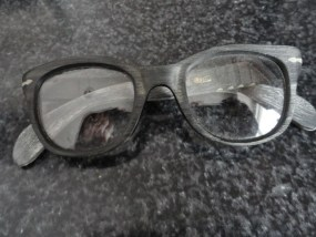 Vintage Eyeglasses 1950's Browline Glasses Black RA111 Super Cool Hard Plastic