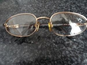 Vintage Eyeglasses VOGUE Oval Metal Made in Italy Gold Wire Rim