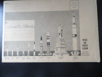 "Vtg 60's NASA Postcard  Space Age Photo Album Envelope Size 6""x9"""