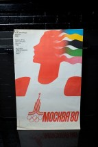 "Vtg 1980 Games Of The XXII Olympiad Moscow 1980 35.5"" x 24.5""  Russia"