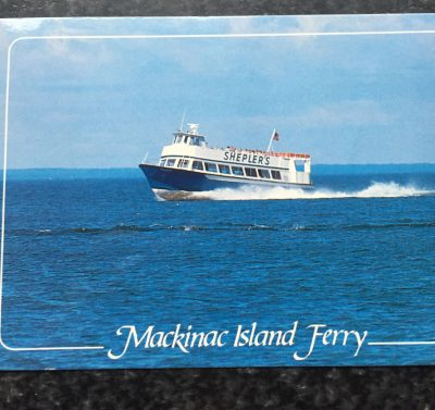 Vtg Postcard Uncirculated Unposted Shepler's Ferry St. Ignace & Mackinac City