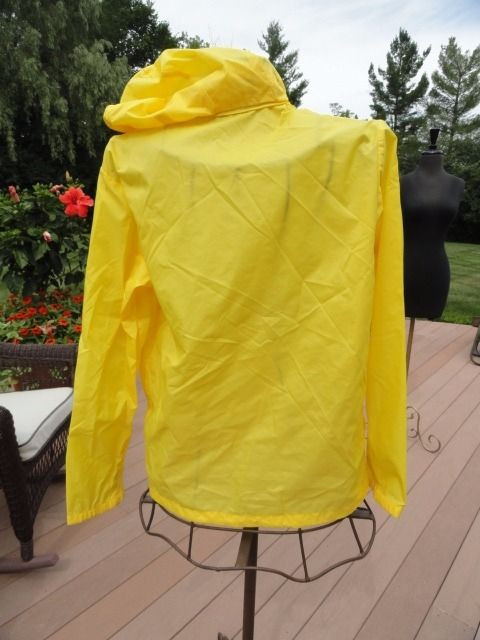 Men's L. L. Bean Yellow Windbreaker ASPEN ANORAK By ASPEN M Hood Freeport ME