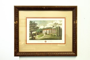 "Vtg Engraving W. Angus ""HARRIETSHAM PLACE"" In The County Of Kent UK Art Framed"