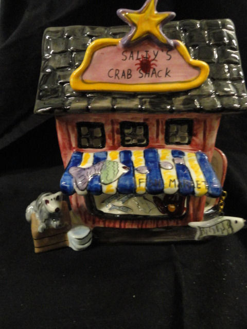 Blue Sky Clayworks 2009 Heather Goldmine T- Lite Candle Cover Salty's Crab Shack