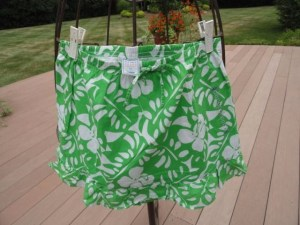 Girl's Old Navy Green and White Hawaiian Pattern Floral Skirt NWOT Size 14