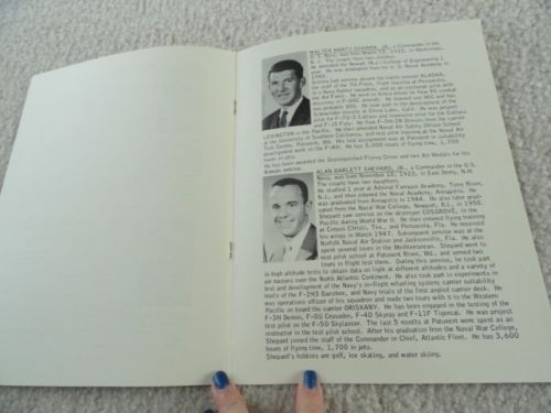 Project Mercury Astronaunts Biographies Manned Spacecraft Center NASA Booklet