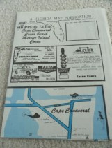 Vtg 60's Map Cape Canaveral Cocoa Beach Merritt Island Cocoa Advertisments