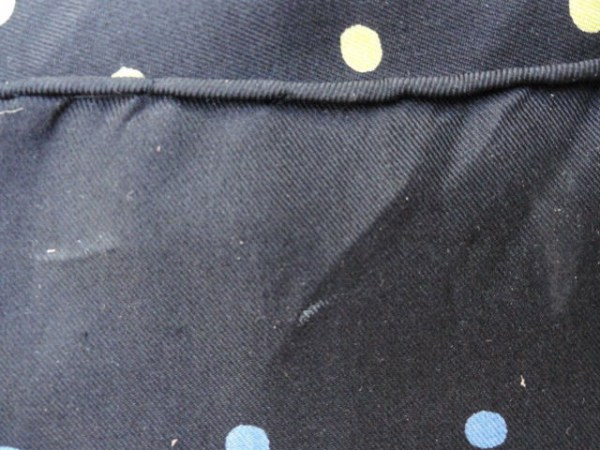 Vintage 1960's Black Polka Dotted Red Yellow Blue White All Silk Pocket  Square