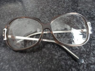 Vintage 1970's MOD Retro Plastic Eyeglasses Tortoise Shell Silver Accents