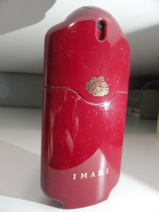 Vintage Perfume IMARI Atomizer Eau de Cologne Red Gold Avon Product 1.2 Fl Oz