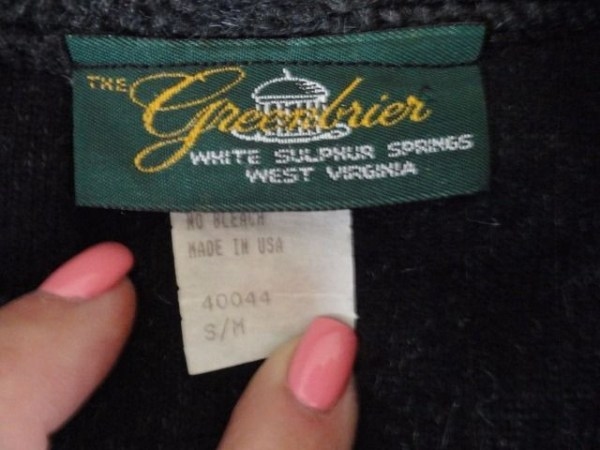 The Greenbrier WHITE SULPHUR SPRINGS Fleece Jacket Pull Over West Virginia S/M
