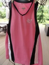 Women Pink Black The Sports Club Tennis Top Small Augusta Sportswear Ex Cond