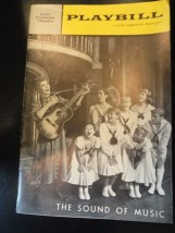 Vtg Sound Of Music March 5 1962 Playbill Lunt Fontanne Theatre Martha Wright