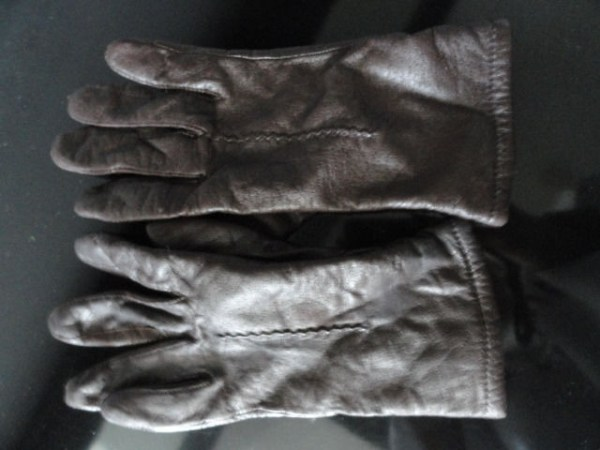 Vintage Ladies Brown Genuine Leather Fownes Gloves 6.5 Philippines Preowned