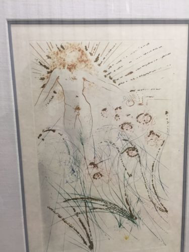 """Salvador Dali 1971 """"The Beloved Is As Fair""""  Song of Songs of Solomon Suite COA"""