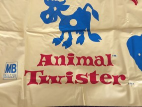 Vintage 1966 Milton Bradley MB Animal Twister A STOCKIN' FEET GAME T.M. Mat Only